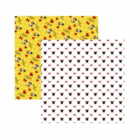 Folha para Scrapbook Disney Toke e Crie Minnie Mouse Estampado – SBD13 – 20840