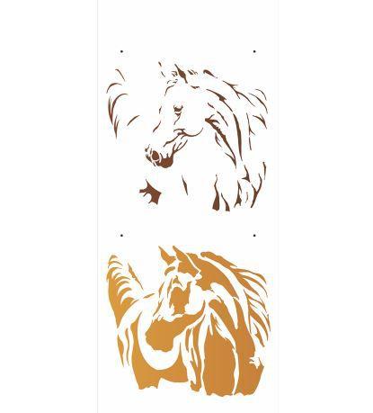 Stencil 17×42 Simples – Animais – Cavalo – OPA 2577