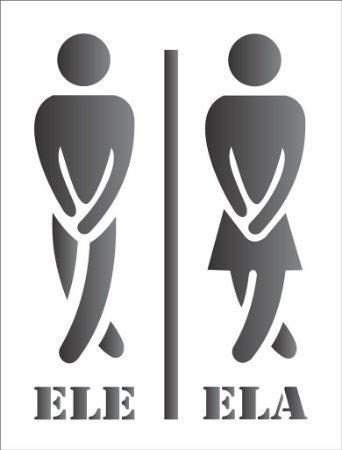 Stencil  32×42 Simples – Sinalizador Banheiro – OPA 1273