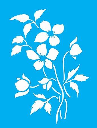 Stencil  32×42 Simples – Flor do Campo – OPA 1420