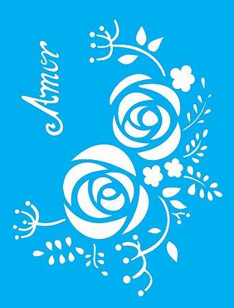 Stencil 32×42 Simples – Flores Retrô – OPA 1421