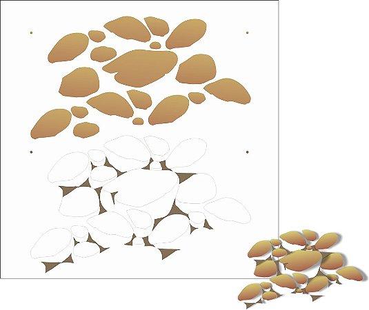 Stencil 30,5×30,5 Simples – Pedras – OPA 2201