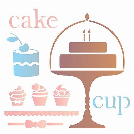 Stencil 30,5×30,5 Simples – Cake – OPA 2088