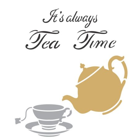 Stencil 30,5×30,5 Simples – Tea Time – OPA 2303