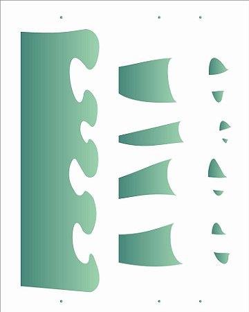 Stencil 20×25 Simples – Barrado – OPA 2051