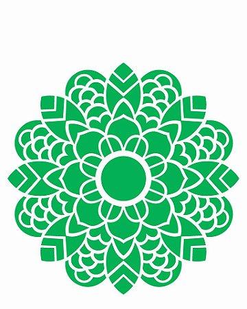 Stencil 20×25 Simples – Mandala Folhas – OPA 2462
