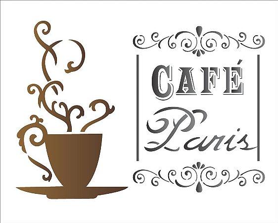 Stencil 20×25 Simpes – Cafe Paris – OPA 1435