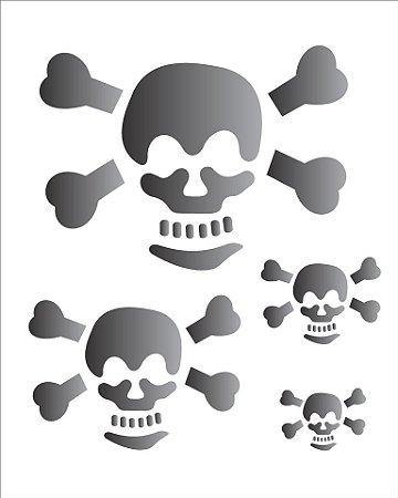 Stencil 20×25 Simples – Caveira – OPA 1155