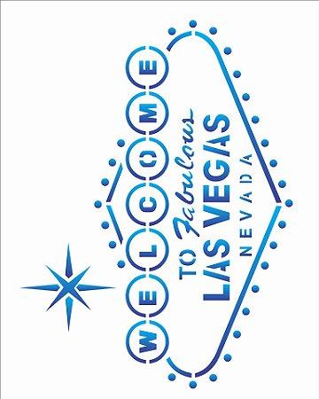 Stencil 20×25 Simples – Welcome Las Vegas – OPA 2084