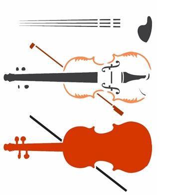 Stencil 20×25 Simples – Instrumentos – Violino – OPA 2585