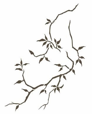 Stencil 20×25 Simples – Galhos – OPA 2609