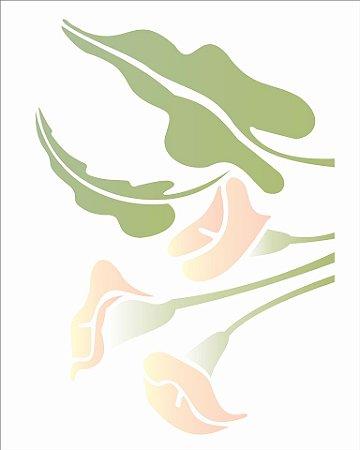 Stencil 20×25 Simples – Flor Copo de Leite – OPA 1326