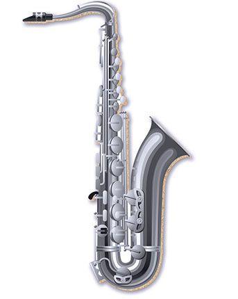 APM8-168 - Aplique Em Papel E MDF - Saxofone