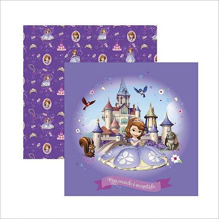 Folha para Scrapbook Dupla Face Disney Toke e Crie Princesinha Sofia 1 Guirlanda - 19341 - SDFD047