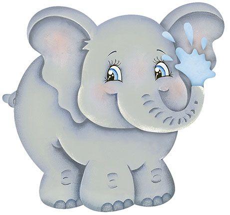 Apm8-812- Aplique Litoarte Em Papel E MDF - Elefante