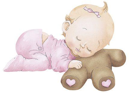 APM8-845 - Aplique Litoarte Em Papel E MDF - Bebê Menina Dormindo