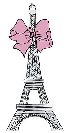 APM8-923 - Aplique Litoarte Em Papel E MDF - Torre Eiffel Com Laço