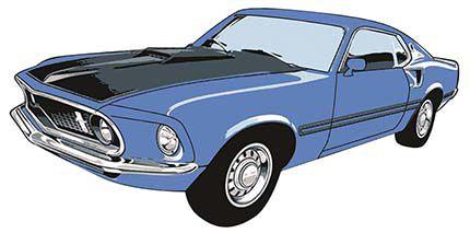 APM8-953 - Aplique Litoarte Em Papel E MDF - Carro Antigo Azul