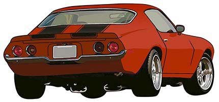APM8-952 - Aplique Litoarte Em Papel E MDF - Carro Antigo Vermelho