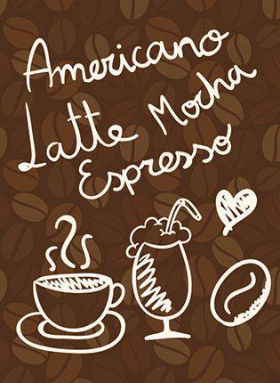 APM8-1121 - Aplique Litoarte Em Papel E MDF - Americano, Latte,...