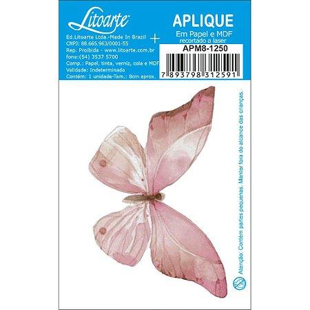 APM8-1250- Aplique Litoarte Em Papel E MDF - Borboleta