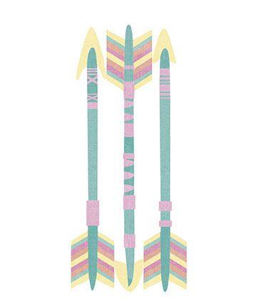 APM8-1054 - Aplique Litoarte Em Papel E MDF - Três Flechas