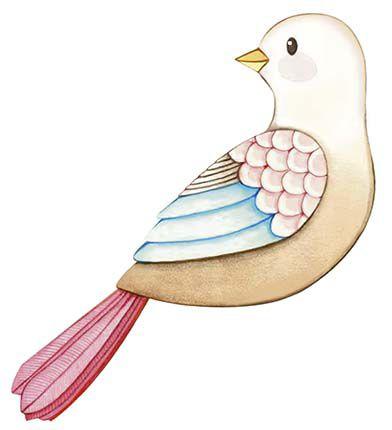 APM8-1221 - Aplique Litoarte Em Papel E MDF - Pássaro