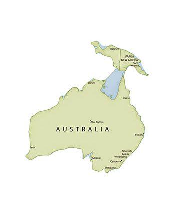 APM8-1063 - Aplique Litoarte Em Papel E MDF - Mapa Da Oceania