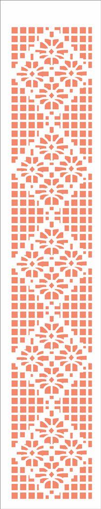 Stencil 06×30 Simples – Renda 4 Margaridas – OPA 2669