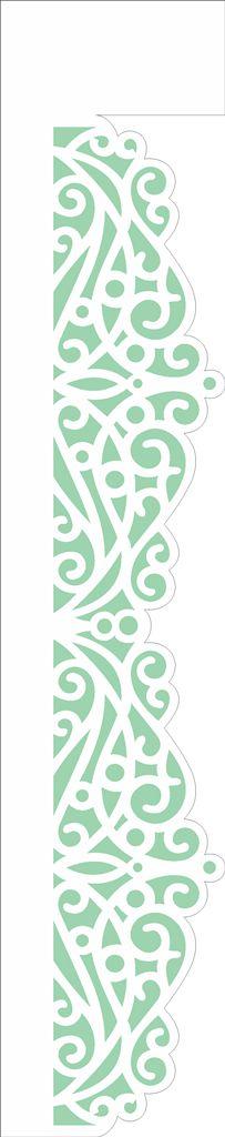 Stencil 06×30 Simples – Renda Arabesco I – OPA 2411