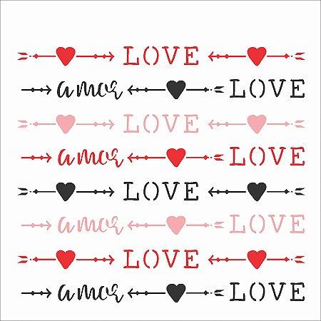Stencil 14×14 Simples – Estamparia Love – OPA 2433