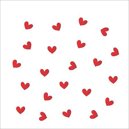 Stencil 14×14 Simples – Micro Corações – OPA 1139