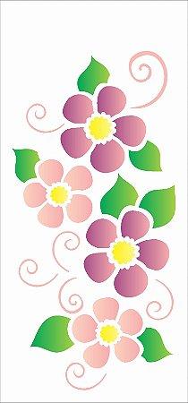 Stencil 7×15 Simples – Flores Arabesco – OPA 1962