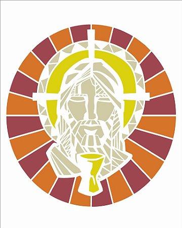 Stencil 20×25 Simples – Vitral Jesus – OPA 2738