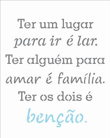 Stencil 20×25 Simples – Frase Benção – OPA 2725