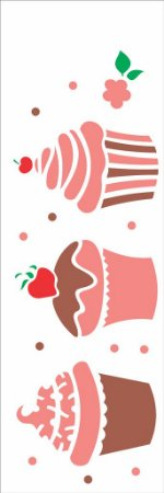 Stencil 10×30 Simples – Doces Cupcakes – OPA 1866