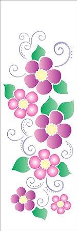 Stencil 10×30 Simples – Flores Arabesco II – OPA 1134