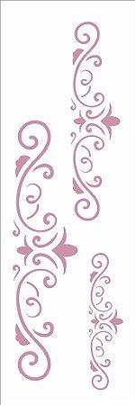 Stencil 10×30 Simples – Arabesco Três Lanças – OPA 2418