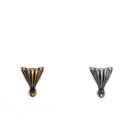 Pezinho de Metal Modelo Concha Pequeno C/4 Unidades