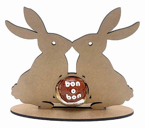 Coelho da Páscoa Porta Bombom em MDF Chocolate Decoração