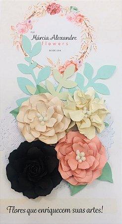 Flores de papel para Scrapbook e Artesanatos Márcia Alexandre - Torta Holandesa 1803