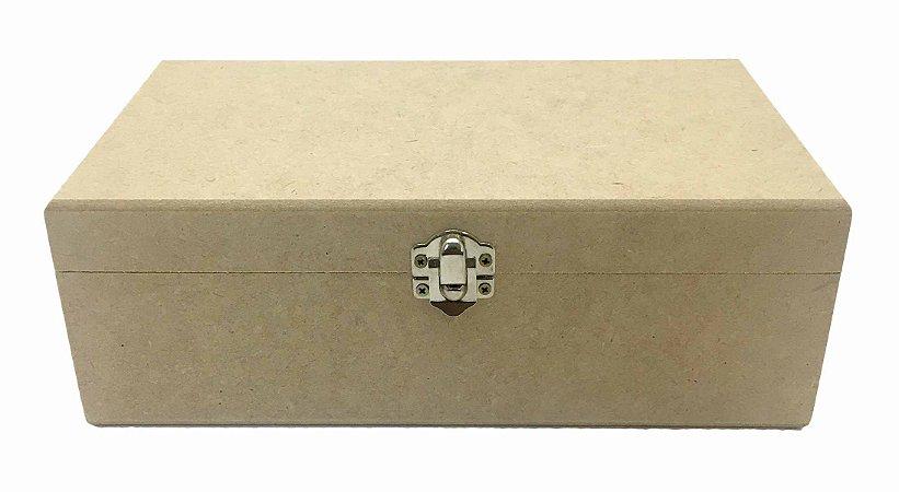 Caixa Lisa C/ Fecho 40x25x15 MDF Crú Decoração 100%Qualidade