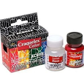 Kit Craquelex Color Para Craquelamento - 37 ml - Acrilex