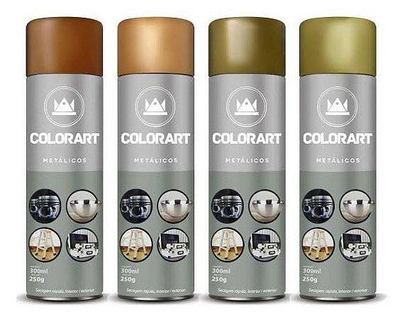 Tinta Spray Metálicos - 300 ml - Colorart