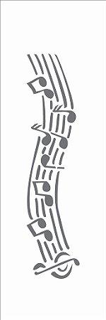 Stencil OPA Simples 10 x 30 cm 040 Notas Musicais