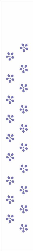 Stencil 4X30 Simples – Flores Mini Margaridas – OPA 293