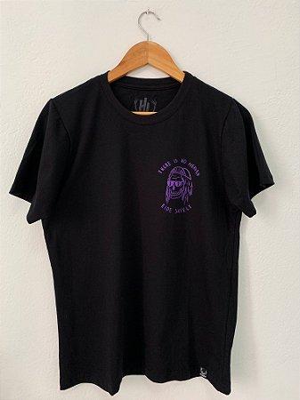 Camiseta There's no heaven - Roxo