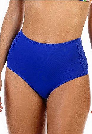 Calcinha Hot Pant franzida na lateral Azul