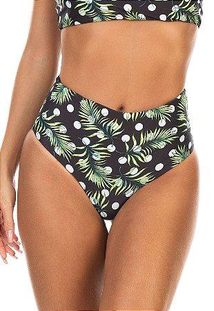 Calcinha Hot Pants Dupla Face Estampa Póas de Verão