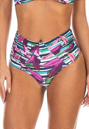 Calcinha Ilhas Rio Hot Pants Franzido Frontal. Estampado